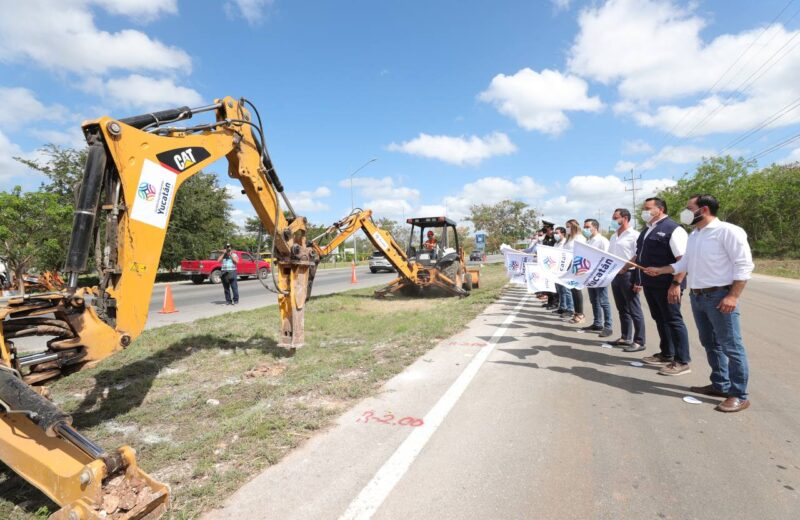 Inicia construcción de puentes peatonales en Periférico. Vila Dosal exhorta a usarlos